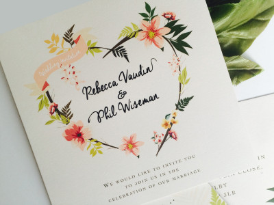 Eden Wedding Invites
