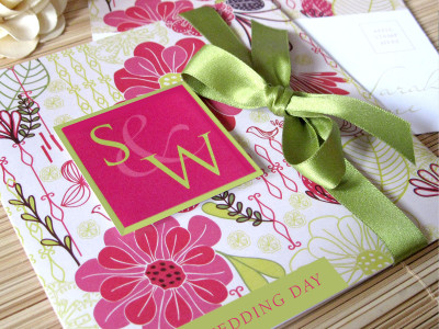 Summer Garden Wedding Invites