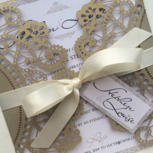 Parfum Laser Cut Wedding Invites