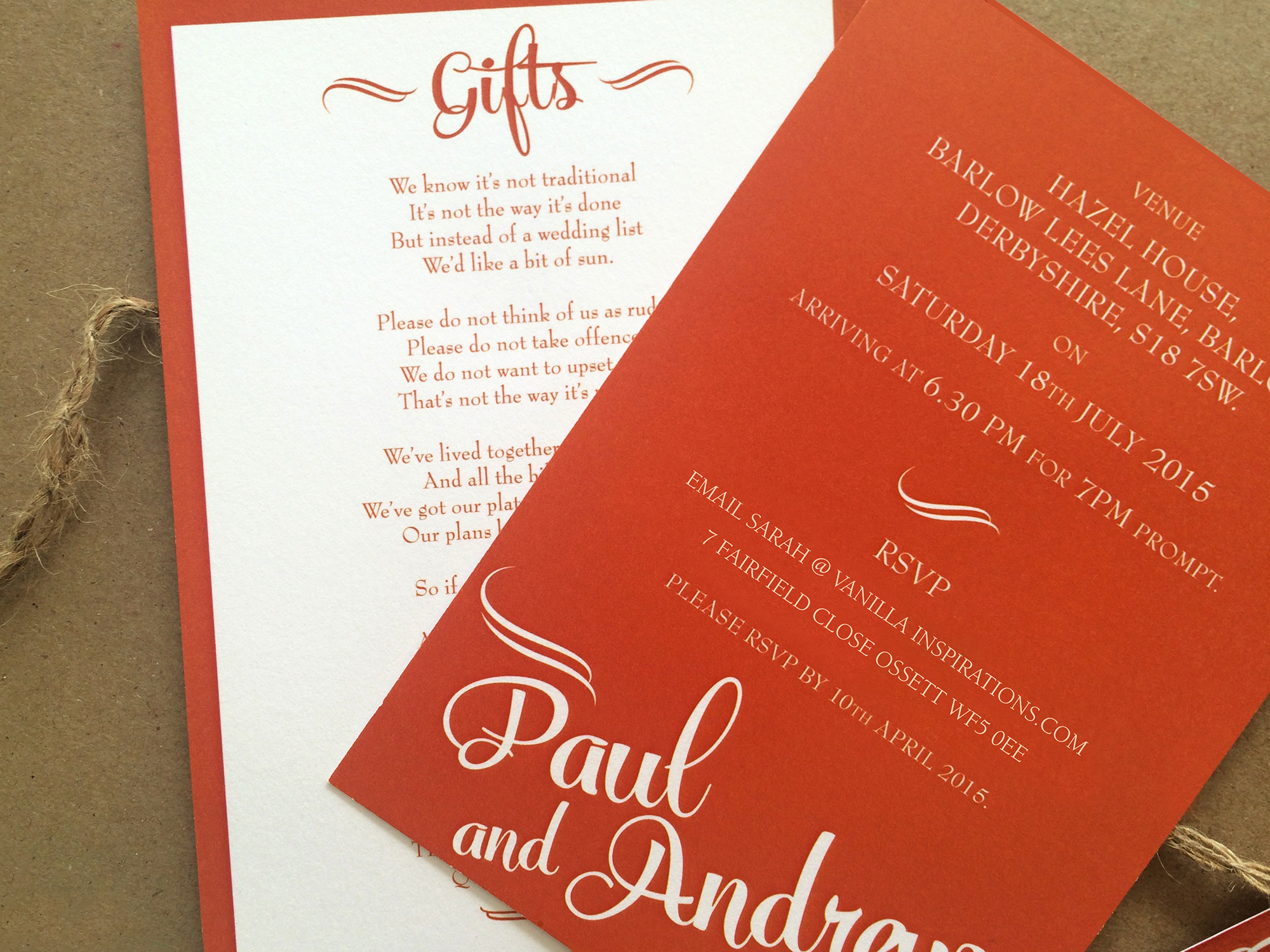 Bliss Wedding Invites | Vanilla Inspirations