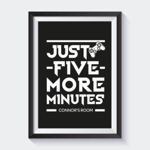 Just five more minutes print